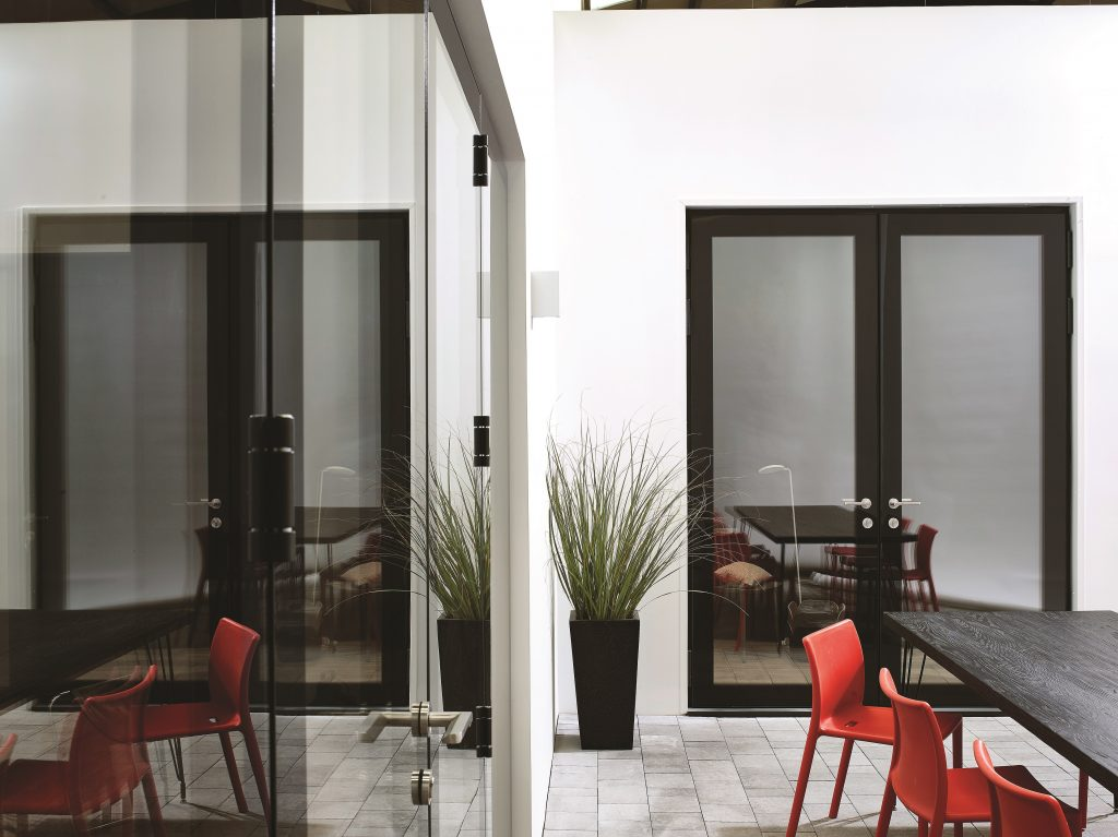 Lumi frameless windows trade windows derby for French doors that open out