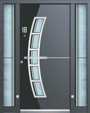 Aluminium Front Doors With Gl Panels on
