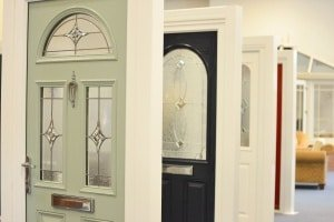 Composite showroom doors