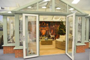 Trade Windows Christmas showroom